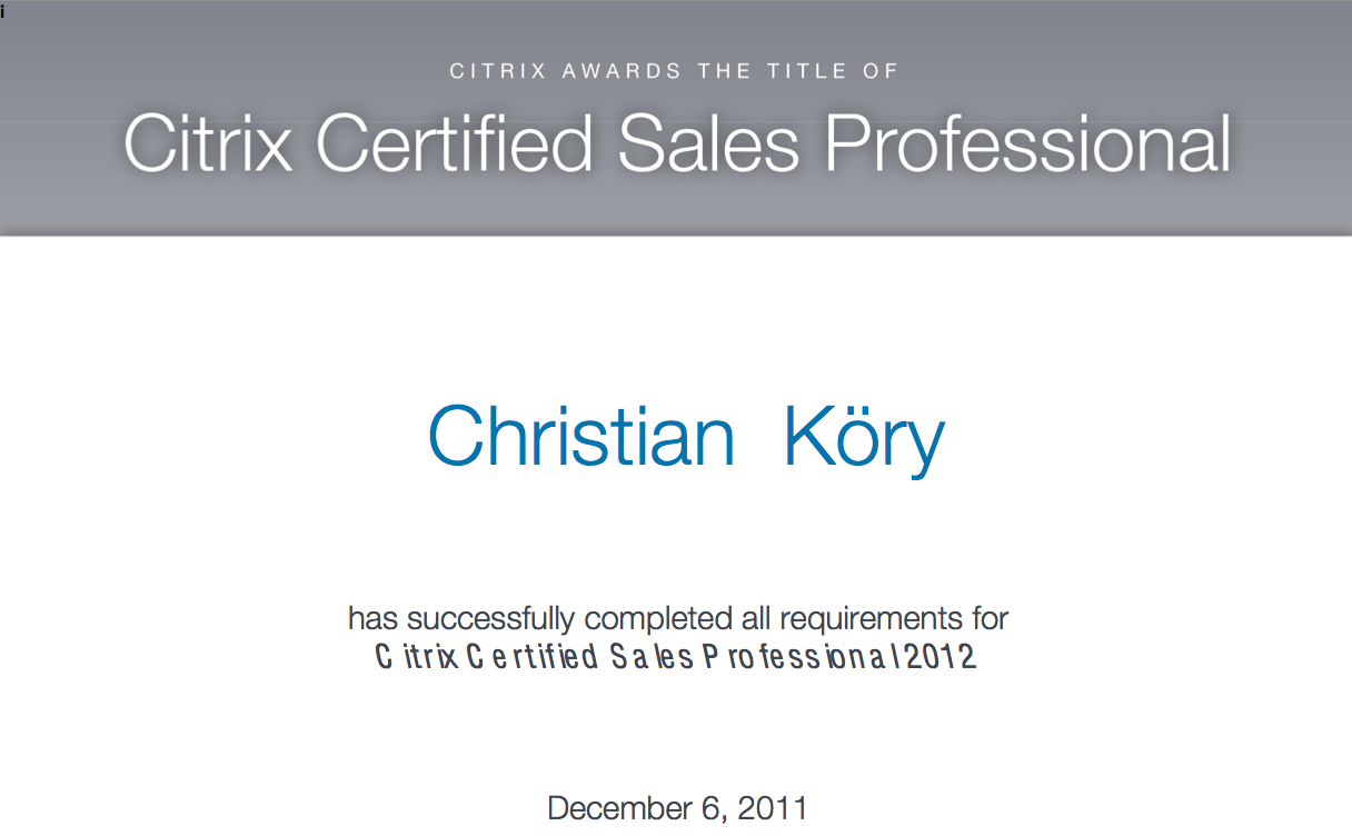 Zertifikate citrix certified sales professional 2012 xflitez Gallery