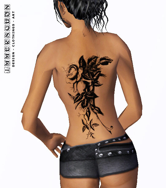 solid back tattoos were made in various parts of the body is sexy girl,