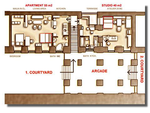 Average Studio Apartment Layout self catering city studio apartment, vienna, austria, holiday